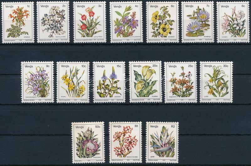 Flower set (without Mi 5Ax (5c), Virág sor (Mi 5Ax (5c) nélkül)