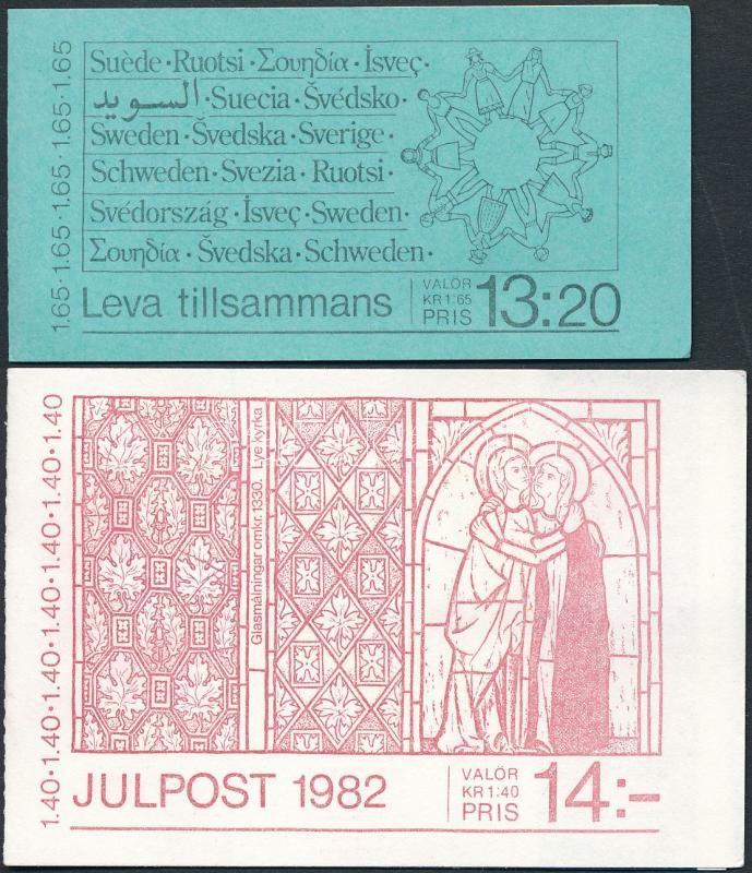 2 stamp-booklets, 2 db klf bélyegfüzet