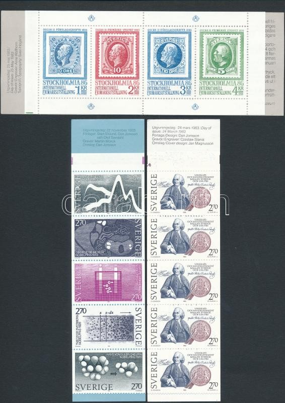 3 db klf bélyegfüzet, 3 stamp-booklets