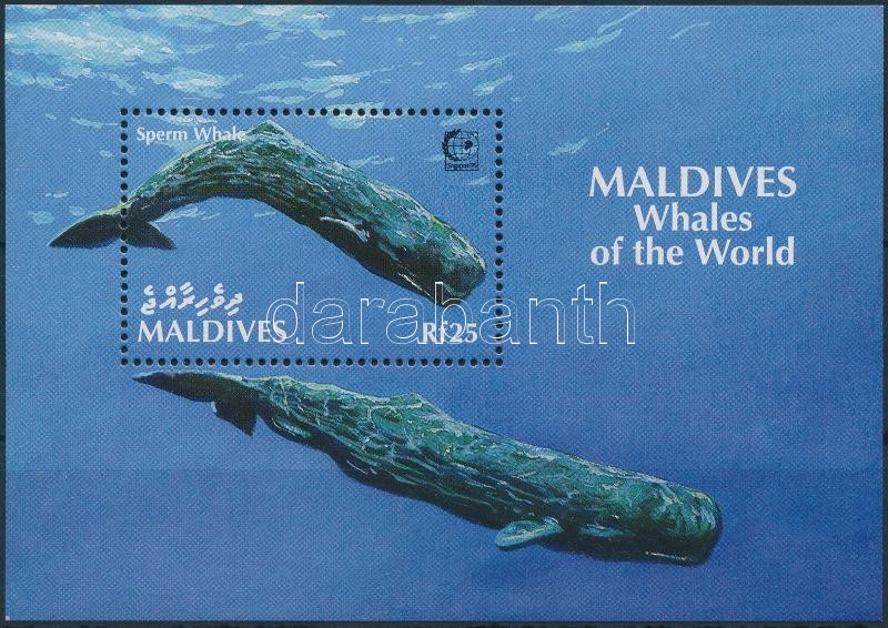 Stamp Exhibition; whale block, Bélyegkiállítás; Bálna blokk