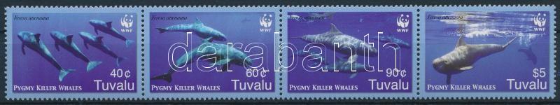 WWF: Whale set in stripe of 4, WWF: Bálna sor négyescsíkban