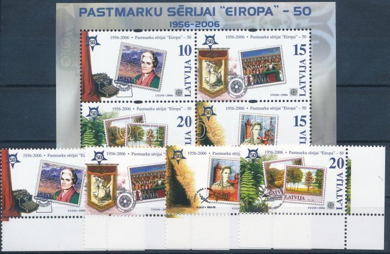 50th anniversary of Europa CEPT margin set + block, 50 éves az Europa CEPT ívszéli sor + blokk