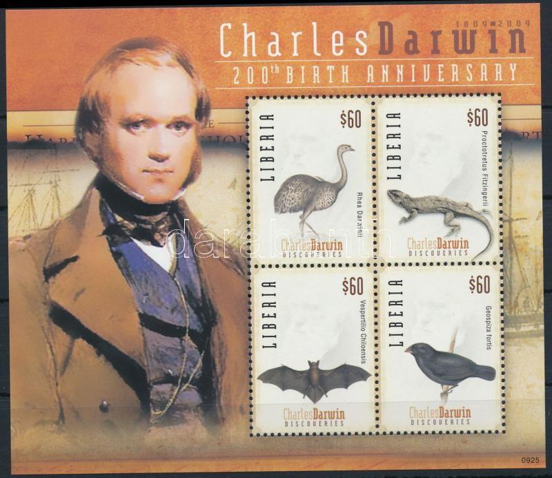 Charles Darwin mini sheet, Charles Darwin kisív