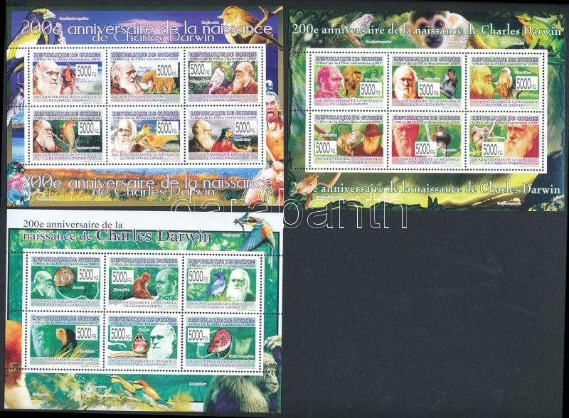 Charles Darwin mini sheet set, Charles Darwin kisívsor