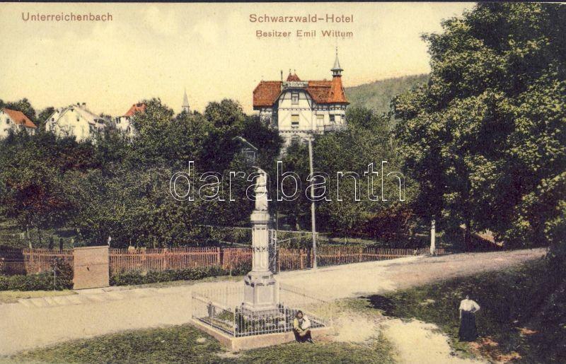 Unterreichenbach, Schwarzwald-Hotel Besitzer Emil Wittum