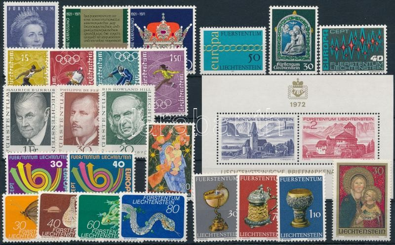 1971-1973 24 stamps + 1 block, 1971-1973 24 klf bélyeg + 1 blokk