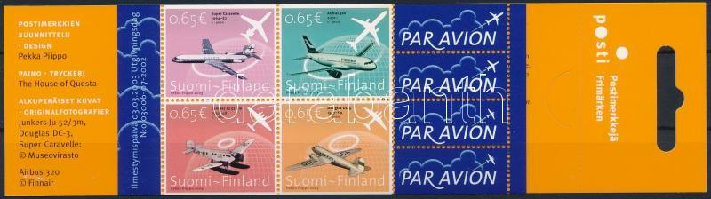 Airplane stamp-booklet, Repülő bélyegfüzet