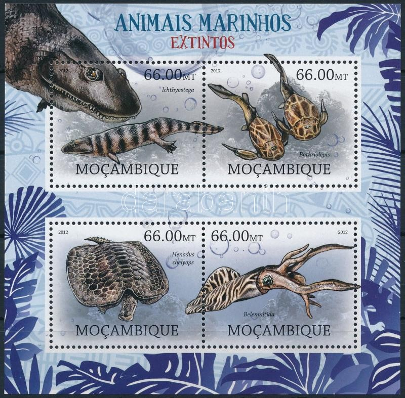 Marine animals mini sheet, Tengeri állatok kisív