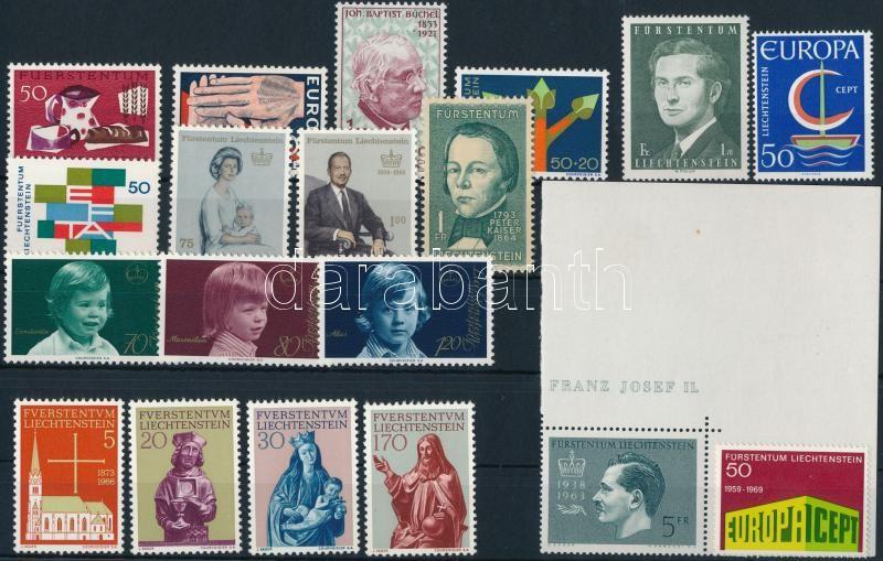 1962-1976 12 stamps + 11 sets, 1962-1976 12 klf önálló érték + 11 klf sor