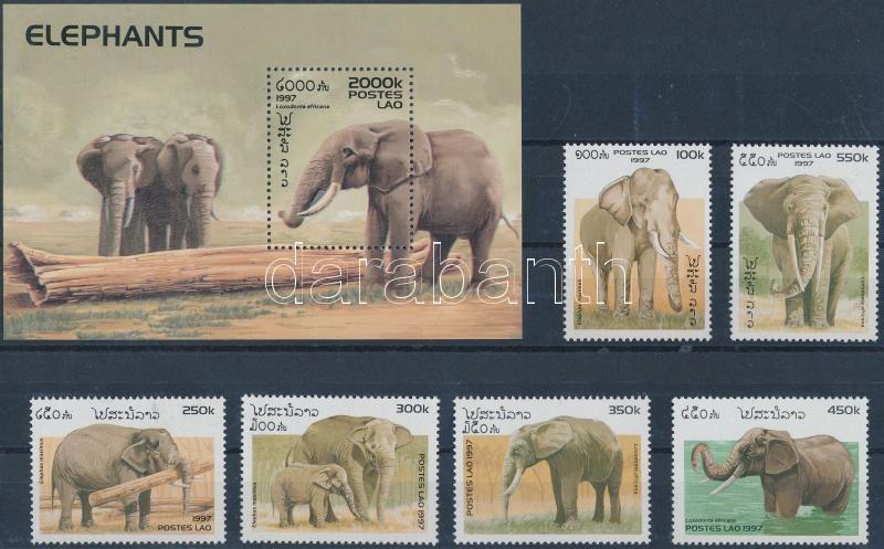 Elephants set + block, Elefántok sor + blokk