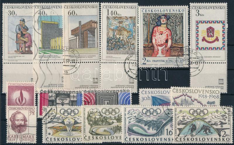 1968-1970 3 stamps + 11 sets + 2 mini sheets + 3 blocks, 1968-1970 3 klf önálló érték + 11 klf sor, közte 2 szelvényes sor + 2 klf kisív + 3 klf blokk 5 stecklapon