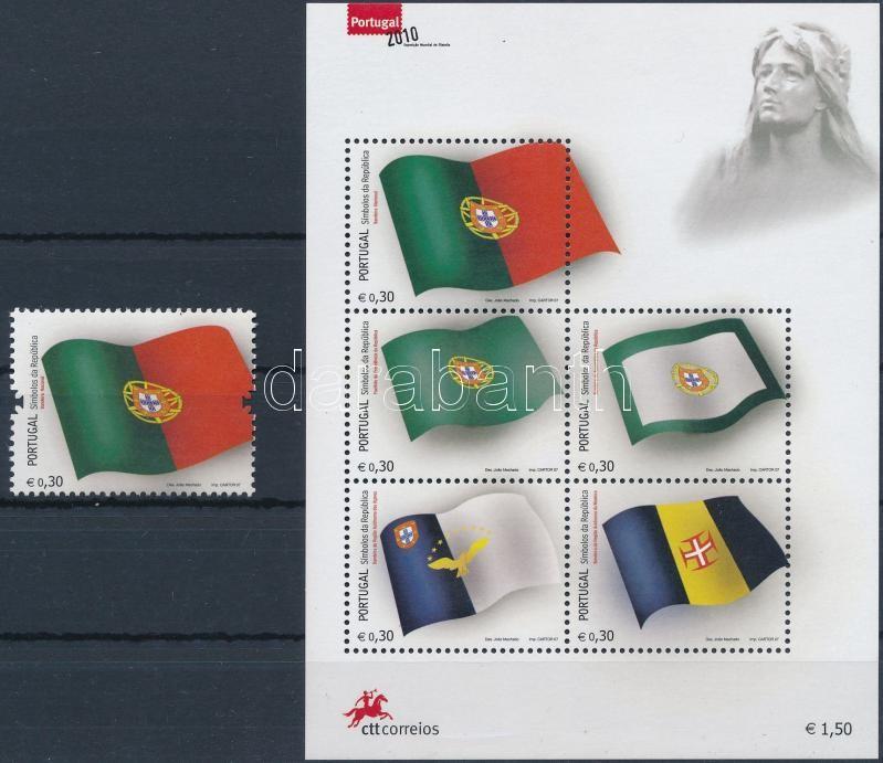 National symbols: flag + block, Nemzeti szimbólum: zászló + blokk