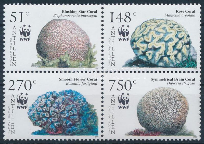 WWF: Corals block of 4, WWF: Korallok négyestömb