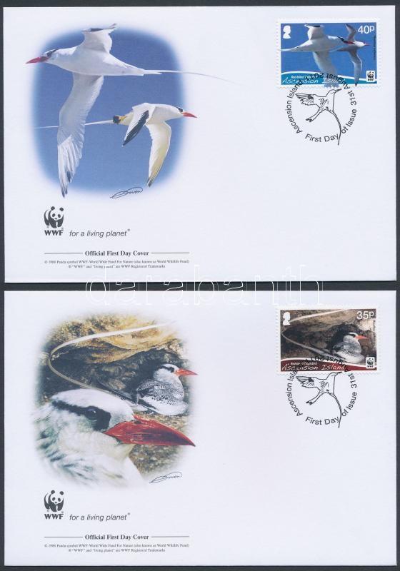 WWF Birds set 4 FDC, WWF: Madarak sor 4 db FDC-n