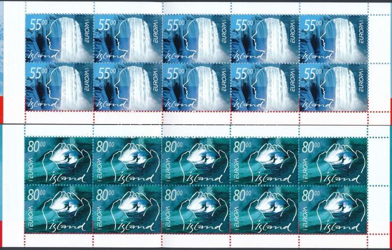 Europa CEPT, Life-giving water 2 stamp-booklets, Europa CEPT, Éltető víz 2 db bélyegfüzet