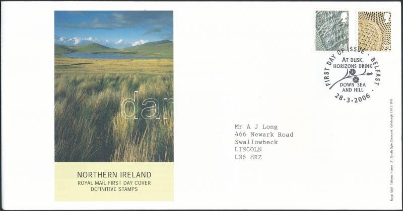 Northern Ireland Definitive set FDC, Észak-Írország Forgalmi sor  FDC-n