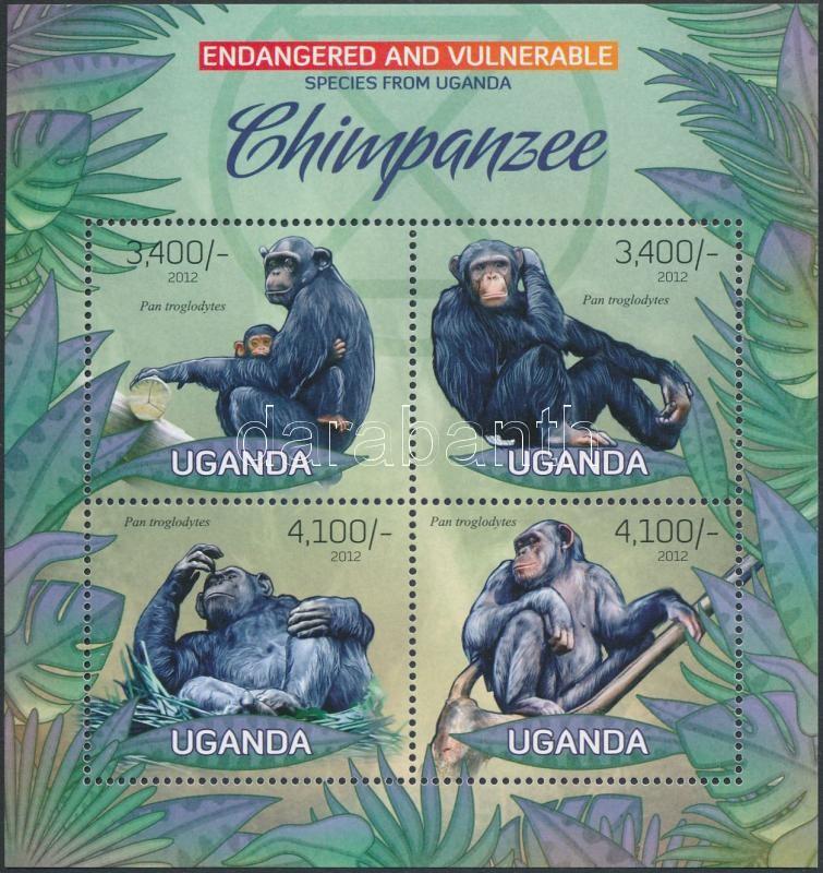 Chimpanzee mini sheet, Csimpánz kisív