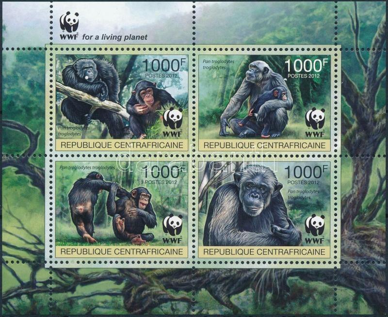 WWF Chimpanzee mini sheet, WWF: Csimpánz kisív