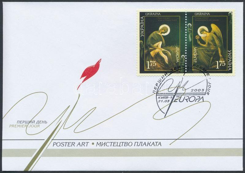Europa CEPT, poster art pair FDC, Europa CEPT, Plakátművészet pár FDC-n
