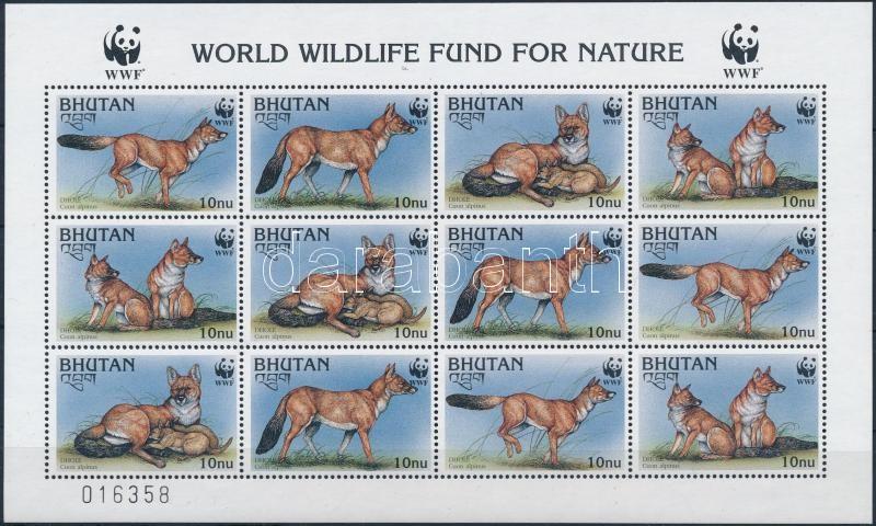 WWF Nature protection mini sheet, WWF: Természetvédelem kisív