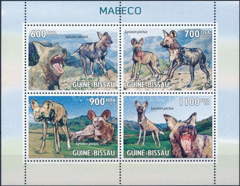 African wild dogs mini sheet, Afrikai vadkutya kisív