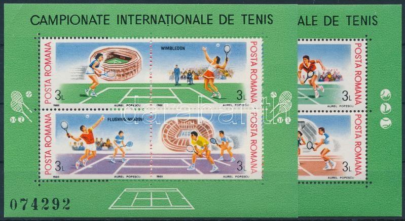 International Tennis Championships block set (folded), Nemzetközi teniszbajnokság blokksor (saroktörés)