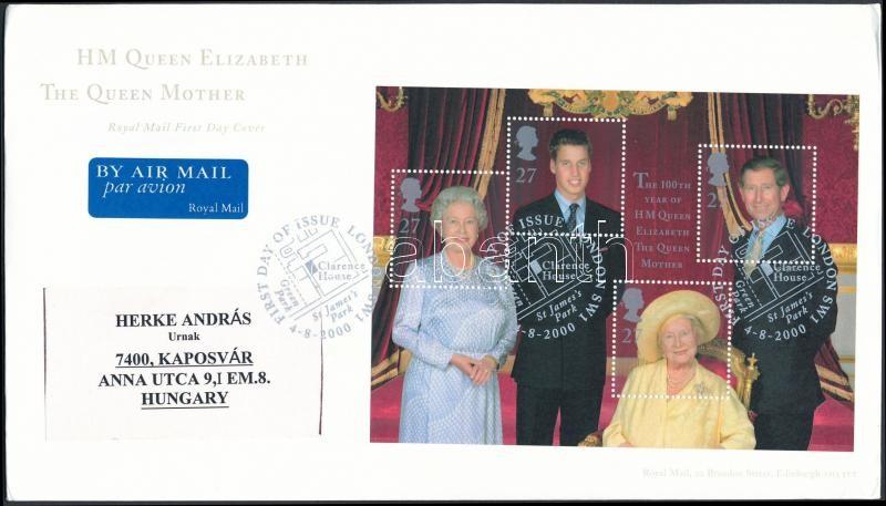 Királyi család blokk FDC-n, Royal Family block FDC