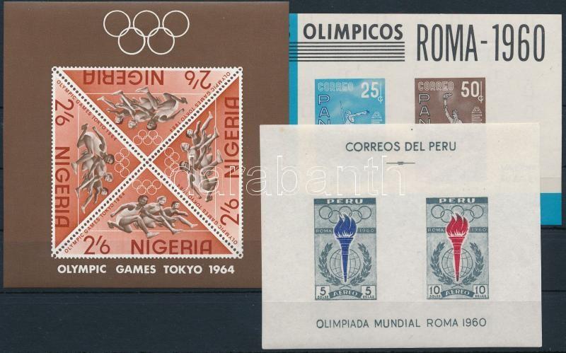 Olympics 3 blocks, Olimpia motívum 3 klf blokk