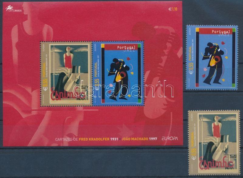Europa CEPT, Plakátművészet sor + blokk, Europa CEPT, Poster Art set + block