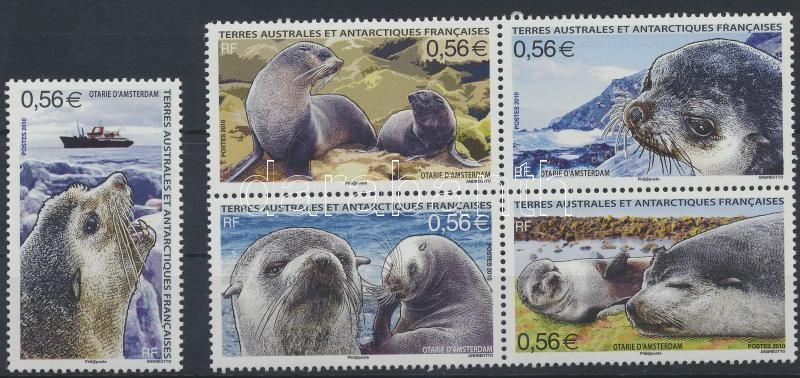 Seals set from block, Fókák blokkból kitépett sor