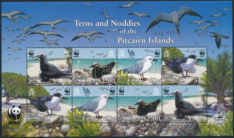 WWF Sea birds mini sheet, WWF: Tengeri madarak kisív