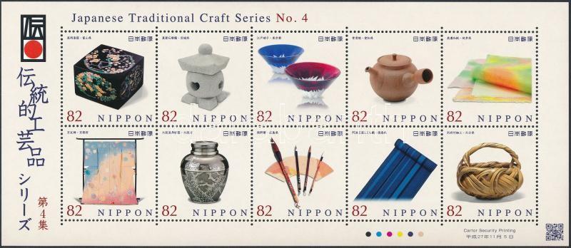Traditional Japanese crafts mini sheet, Hagyományos japán kézművesség kisív