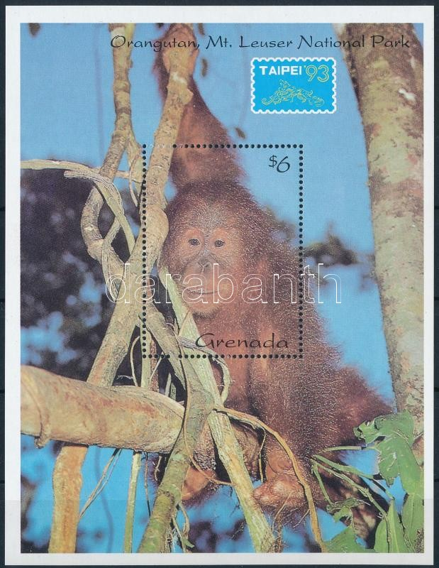 Stamp Exhibition; monkey block, Bélyegkiállítás; majom blokk