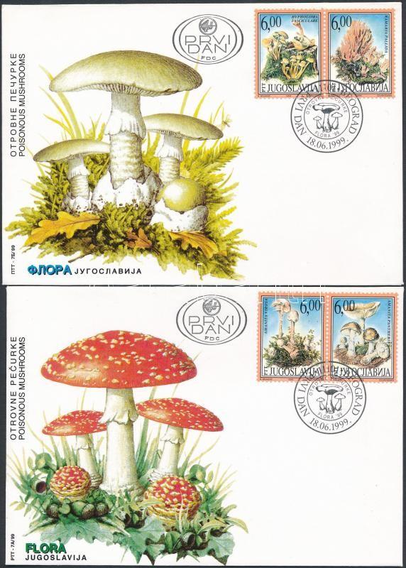 Mushroom set 2 FDC, Gomba sor 2 db FDC-n