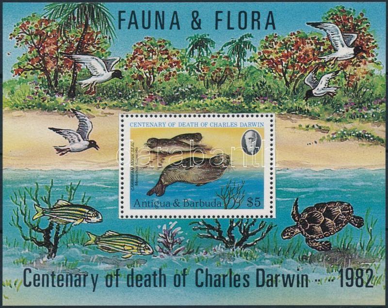 Charles Darwin's death centenary block, Charles Darwin halálának 100. évfordulója blokk