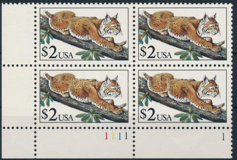 Lynx corner block of 4, Hiúz ívsarki négyestömb