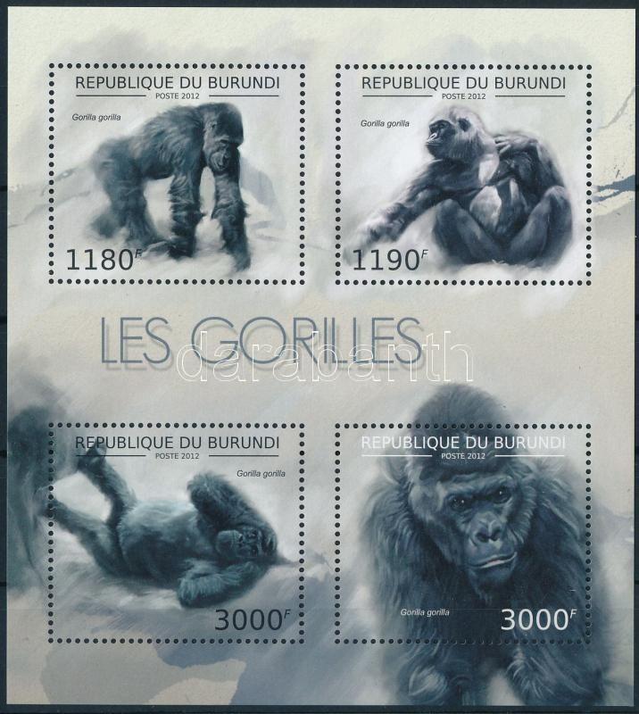 Gorilla minisheet, Gorilla kisív