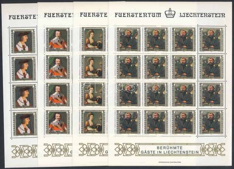 Famous people on paintings mini sheet set, Híres emberek festményeken kisív sor