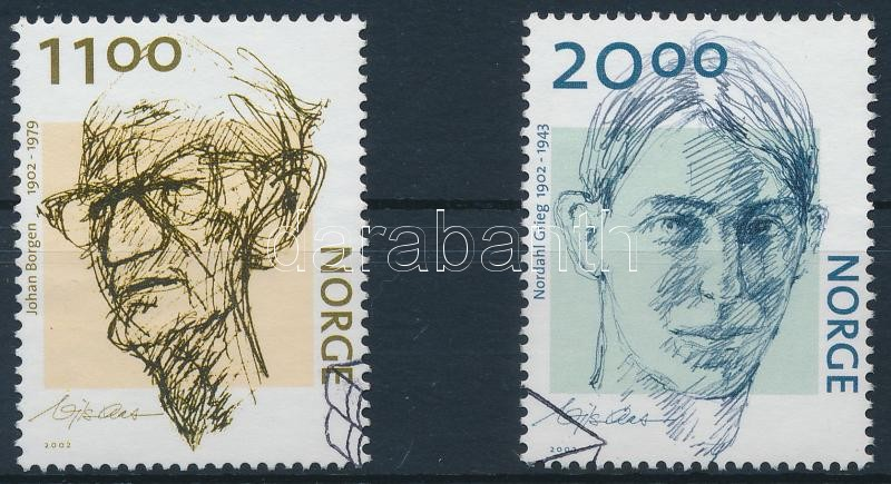 Johann Borgen and Nordahl Grieg's birth centenary set, 100 éve született Johann Borgen és Nordahl Grieg sor