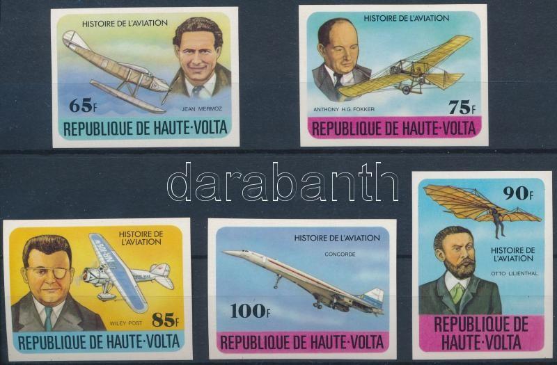History of aviation imperf set, A légi közlekedés története vágott sor