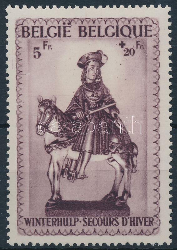 Winter aid stamp from block, Téli segély blokkból kitépett bélyeg