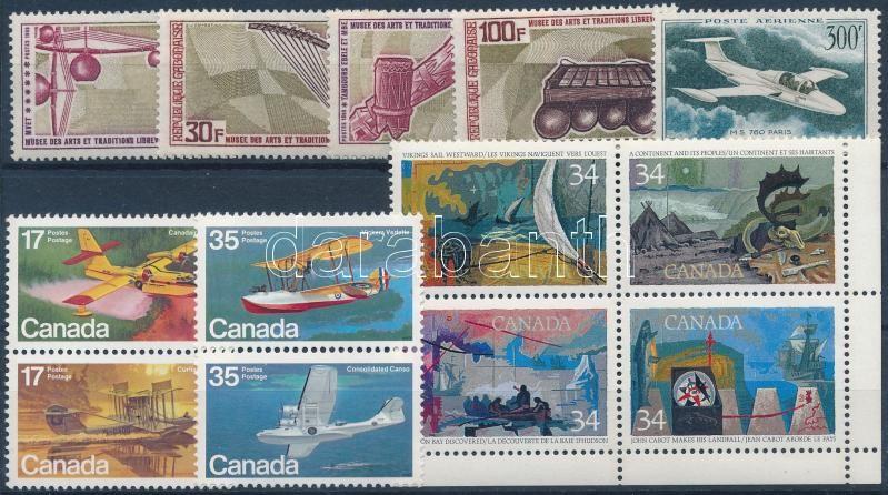 1959-1986 Transport 3 diff sets + 1 stamp, 1959-1986  Közlekedés motívum 3 klf sor + 1 db önálló érték