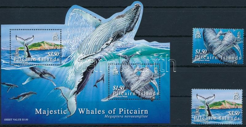 Whale set + block, Bálna sor + blokk