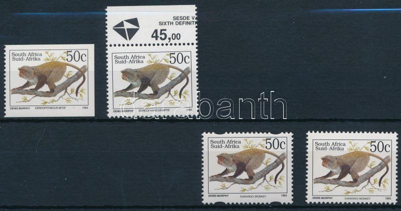 Monkey stamps, Majom bélyeg 4 típusa
