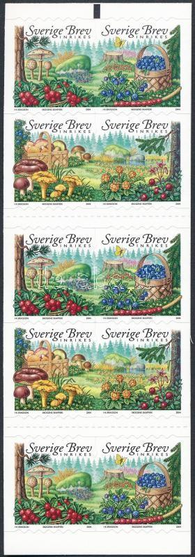 Mushrooms stamp booklet, Gombák bélyegfüzet