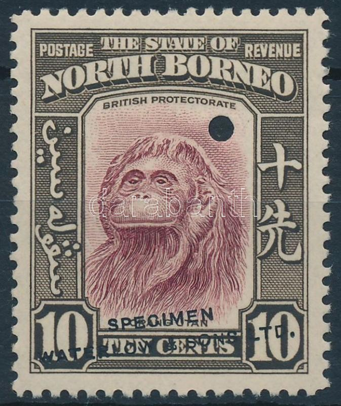 "Monkey ""SPECIMEN"" overprint, Majom ""SPECIMEN"" felirattal"