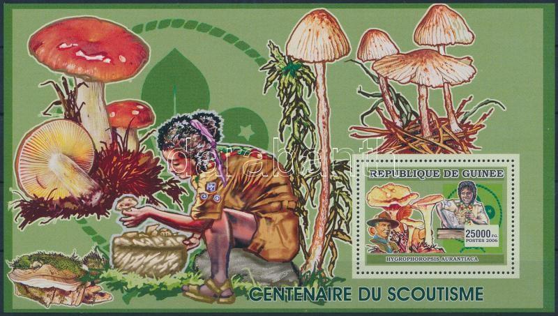 Scout Movement, mushrooms block, Cserkészmozgalom, gomba blokk