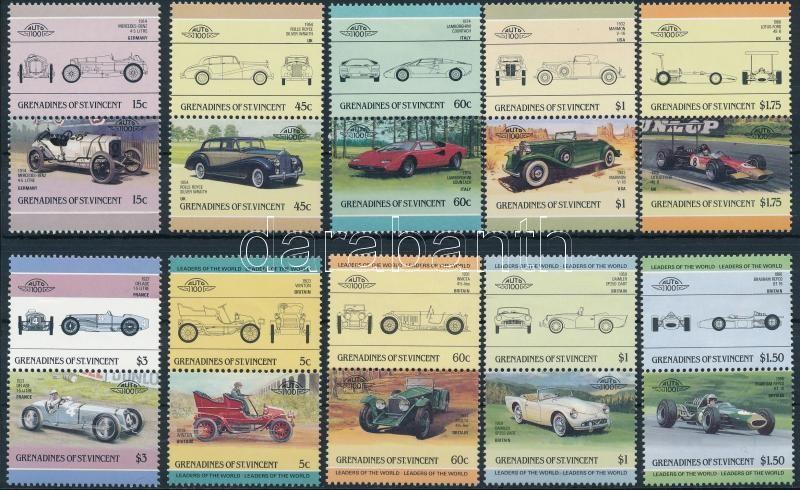 1985-1986 Cars 2 diff set, 1985-1986 2 klf autó sor