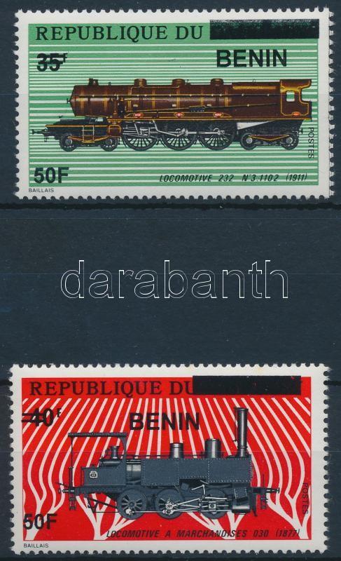 Vonat sor 2 felülnyomott értéke, Locomotive 2 stamps
