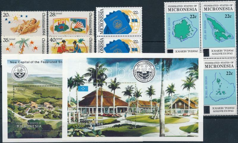 1984-1991 10 stamps + 2 blocks, 1984-1991 10 klf bélyeg + 2 klf blokk